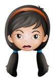 Een gezicht van een meisje royalty-vrije illustratie