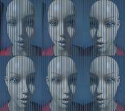 Een gezicht van een plastic mannequin Stock Afbeelding