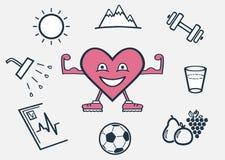 Een gezond, blij hart vector illustratie
