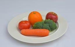 Een Gezond Fruit Vijf en Groenten een dag Stock Fotografie