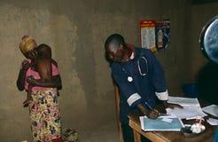 Een gezondheidskliniek in Oeganda. Stock Foto