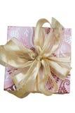 Een gift of een Heden op witte achtergrond stock foto