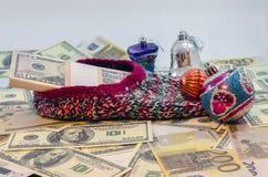 Een gift voor het nieuwe jaar Royalty-vrije Stock Afbeelding