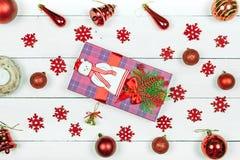 Een gift voor Kerstmis royalty-vrije stock afbeeldingen