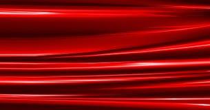 Een glanzende geplooide textuur van het zijdegordijn voor gebruik als rode achtergrond royalty-vrije stock foto