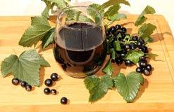 Een Glas Blackcurrant Sap Stock Afbeeldingen