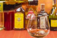 Een glas brandewijn Stock Fotografie