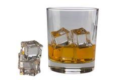 Een glas en een ijs Royalty-vrije Stock Fotografie