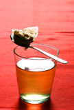 Een glas geneeskrachtige hete thee stock afbeelding