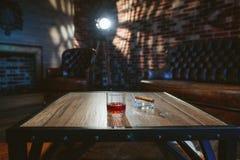 Een glas met alcohol Royalty-vrije Stock Afbeelding
