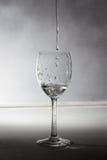 Een glas met water Royalty-vrije Stock Afbeeldingen