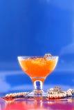Een glas sap Royalty-vrije Stock Afbeeldingen