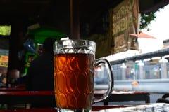 Een glas thee Stock Afbeelding