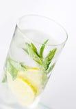 Een glas van mojitococktail Royalty-vrije Stock Foto