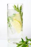 Een glas van mojitococktail Stock Fotografie