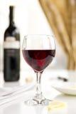 Een glas wijn Stock Fotografie