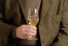 Een glas Witte Wijn Royalty-vrije Stock Afbeeldingen