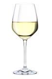 Een glas witte wijn Stock Foto
