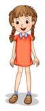 Een glimlachend jong meisje Stock Afbeelding
