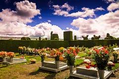 Een glimp in een Colombiaanse begraafplaats, Zuid-Amerika Royalty-vrije Stock Foto's