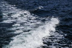 Een golf in de Noordzee royalty-vrije stock fotografie