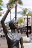 Een 'Golf op tijd' standbeeld Napier, Nieuw Zeeland stock afbeelding