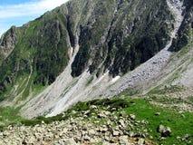 Een golf van steen - Italiaanse Alpen Stock Fotografie