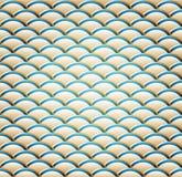 Een golvend Naadloos Patroon Royalty-vrije Stock Afbeelding