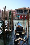 Een gondel in Venetië, Italië Royalty-vrije Stock Foto's