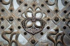 Een gotisch ornament van een middeleeuwse kerkdeur Royalty-vrije Stock Afbeeldingen