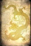 Een gouden draak vector illustratie