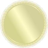 Een gouden medaille. Vector. Voor winn Stock Afbeeldingen