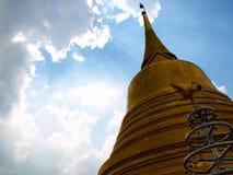 Een gouden pagode. Royalty-vrije Stock Afbeeldingen