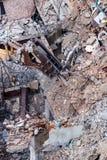 Een graafwerktuig die bij vernielingsplaats werken Stock Foto