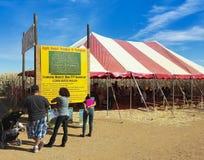 Een Graanlabyrint in Apple Annie, Wilcox, Arizona Royalty-vrije Stock Fotografie