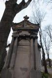 een graf in pere-Lachaise begraafplaats, Parijs, Royalty-vrije Stock Afbeeldingen
