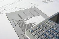 Een grafiek Stock Foto