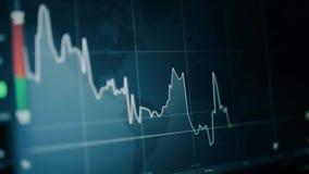 Een grafiek die een stijgend punt of een punt à la baisse, een tendens of een tendens tonen neer Effectenbeurs of uitwisseling royalty-vrije illustratie