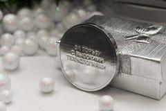 Een grappige medaille ` voor het bestrijden van geavanceerd technisch ` Rus Stock Fotografie