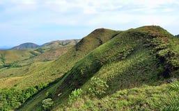Een grasrijke berghelling in het Westelijke Ghats-gebied van Zuid-India royalty-vrije stock afbeeldingen