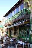 Een Grieks restaurant Stock Afbeeldingen