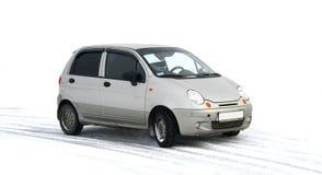 Een grijze auto Stock Fotografie