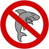 Een grijze haai met verbiedend teken Stock Afbeelding