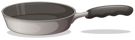 Een grijze kokende pan Stock Foto's