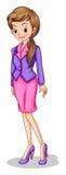 Een groeiende jonge dame royalty-vrije illustratie