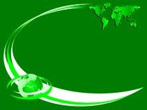 Een groen milieuadreskaartje Stock Foto's