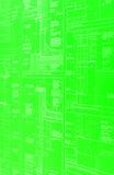 Een groene blauwdruk stock foto's