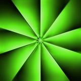 Een groene ventilator op een donkere achtergrond Stock Foto's
