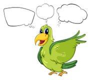Een groene vogel vector illustratie
