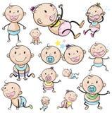 Een groep babys stock illustratie